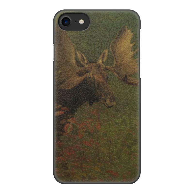 Чехол для iPhone 7, объёмная печать Printio Лось (study of a moose) (альберт бирштадт) людмила жукова альберт бирштадт