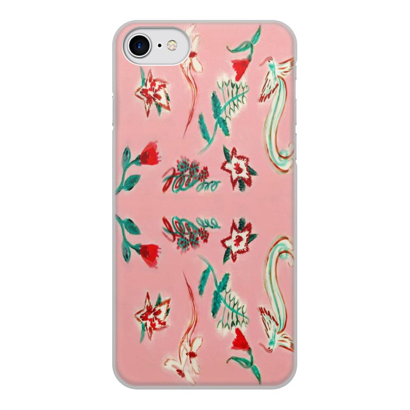 Чехол для iPhone 7, объёмная печать Printio Цветочная сказка цена