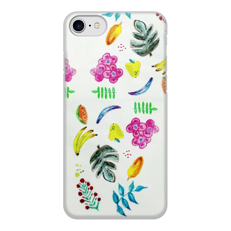Чехол для iPhone 7, объёмная печать Printio Фрукты чехол аккумулятор deppa nrg case 2600 mah для iphone 7 белый 33520
