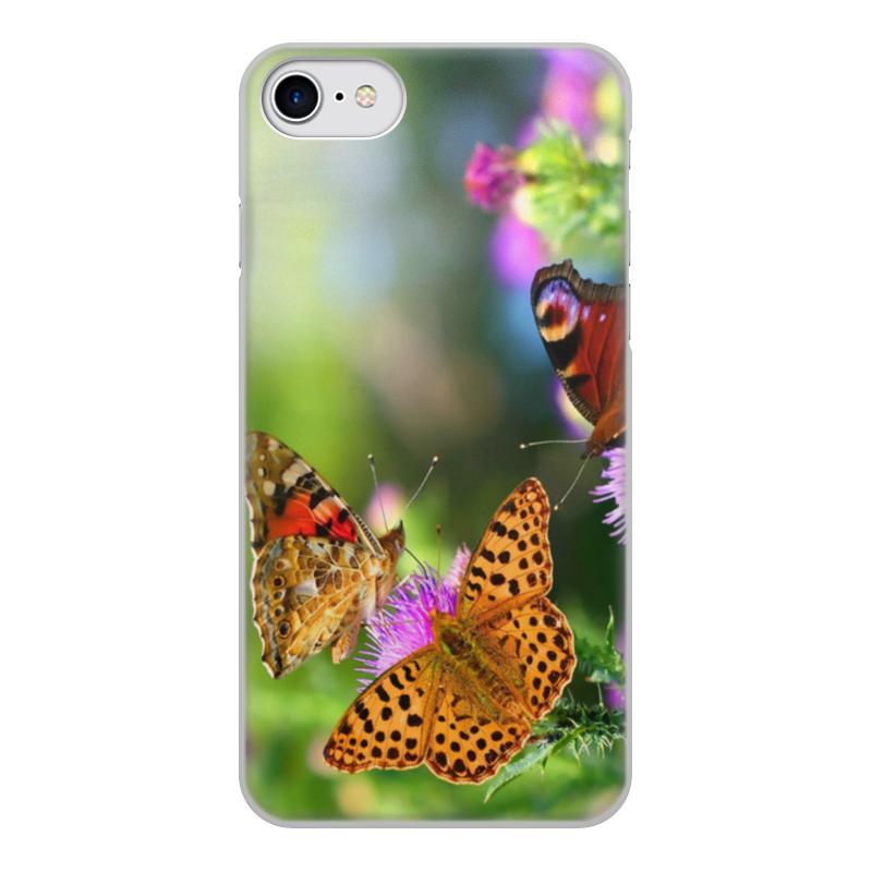 Чехол для iPhone 7, объёмная печать Printio Бабочки чехол для iphone 7 глянцевый printio оно