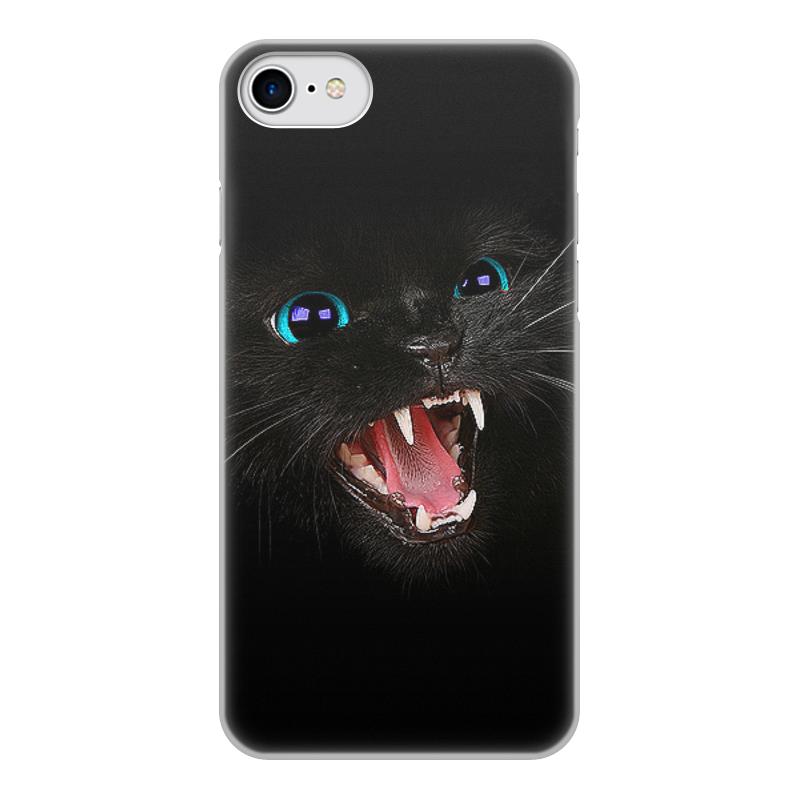 лучшая цена Чехол для iPhone 7, объёмная печать Printio Черная кошка
