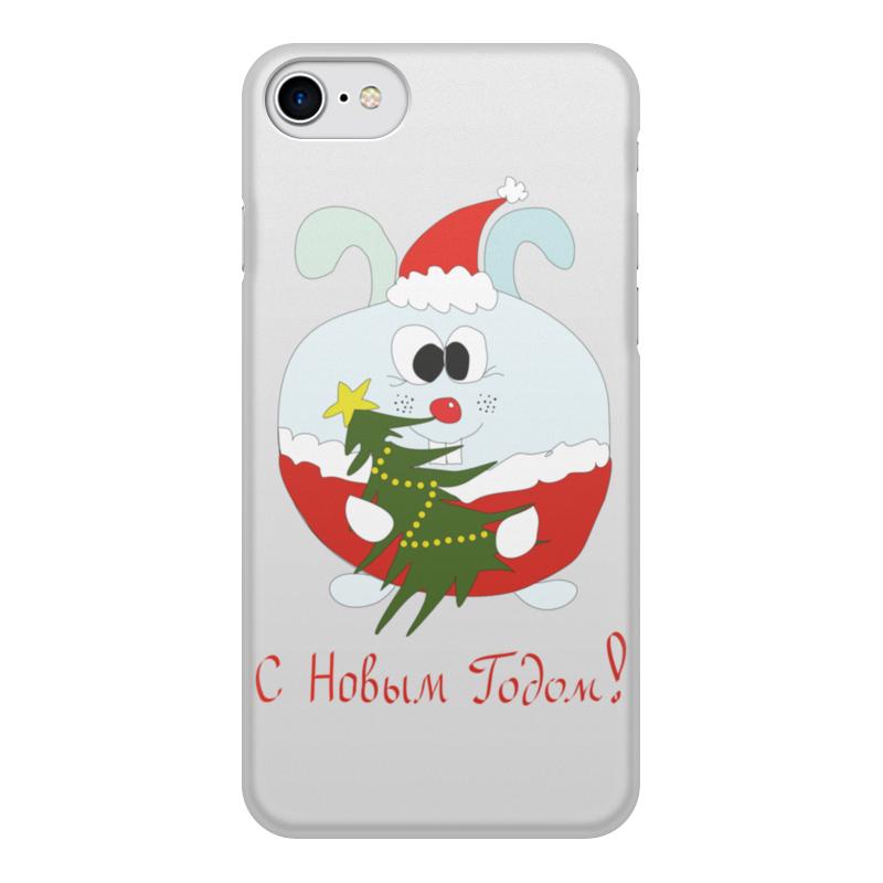 Чехол для iPhone 7, объёмная печать Printio Новогодний заяц чехол для iphone 7 глянцевый printio новогодний олень