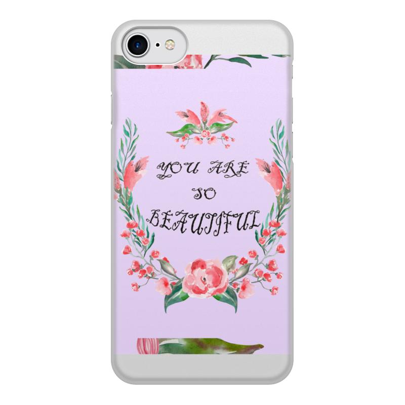 Чехол для iPhone 7, объёмная печать Printio Цветочный венок заготовка из пенопласта сердце венок 25 24см толщина 2см