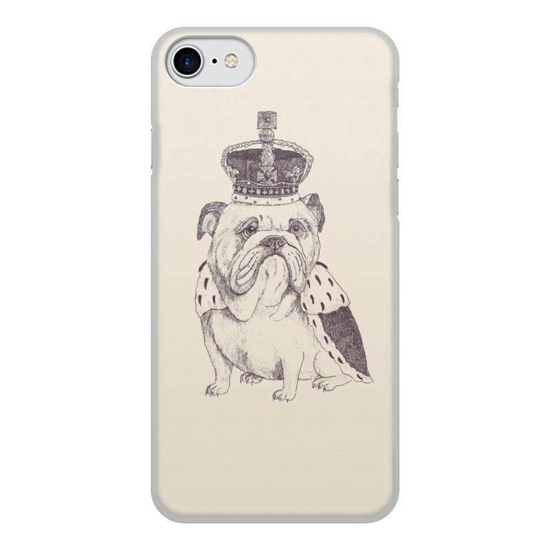 Чехол для iPhone 7, объёмная печать Printio Английский бульдог чехол аккумулятор deppa nrg case 2600 mah для iphone 7 белый 33520