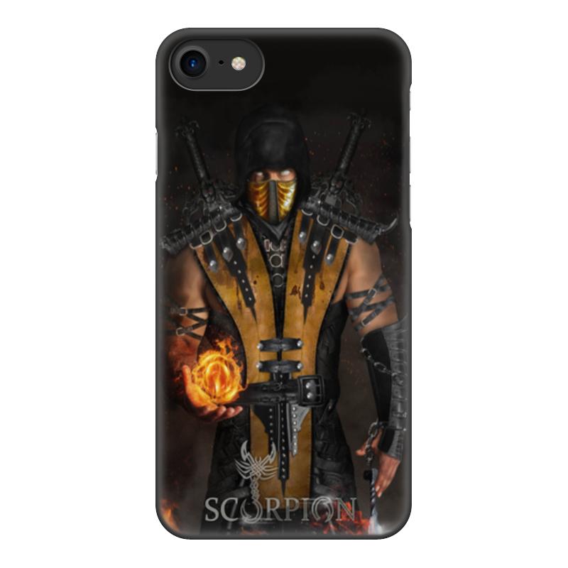 Чехол для iPhone 7, объёмная печать Printio Mortal kombat (scorpion) чехол для iphone 5 5s объёмная печать printio mortal kombat scorpion