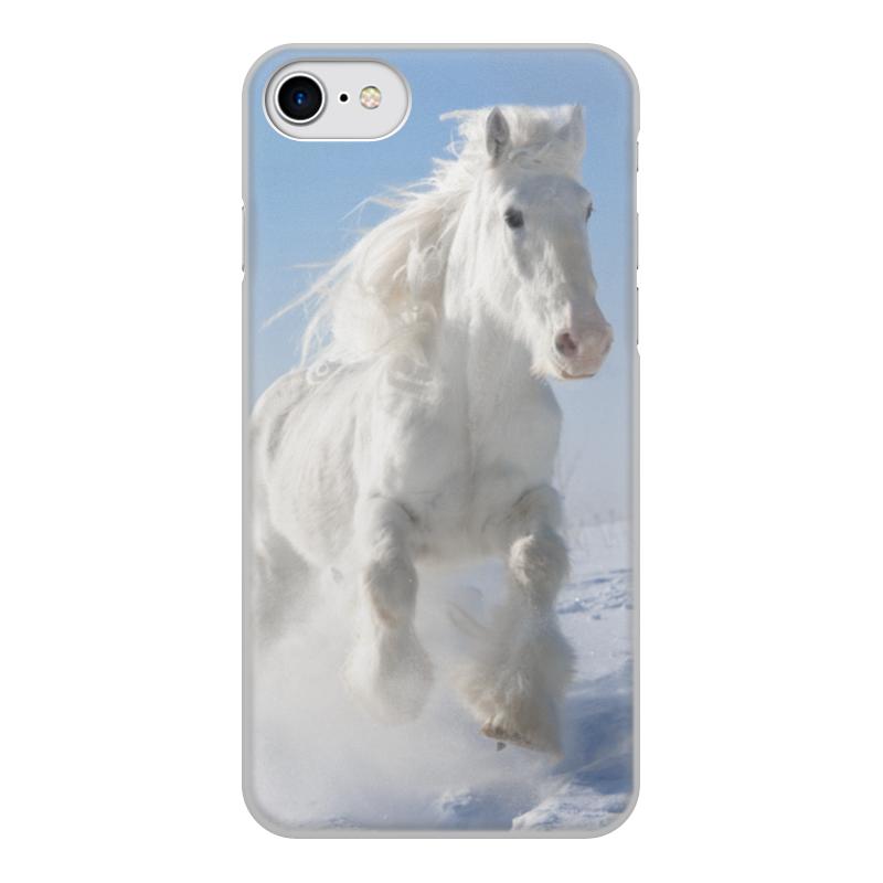 Чехол для iPhone 7, объёмная печать Printio Лошадь чехол аккумулятор deppa nrg case 2600 mah для iphone 7 белый 33520