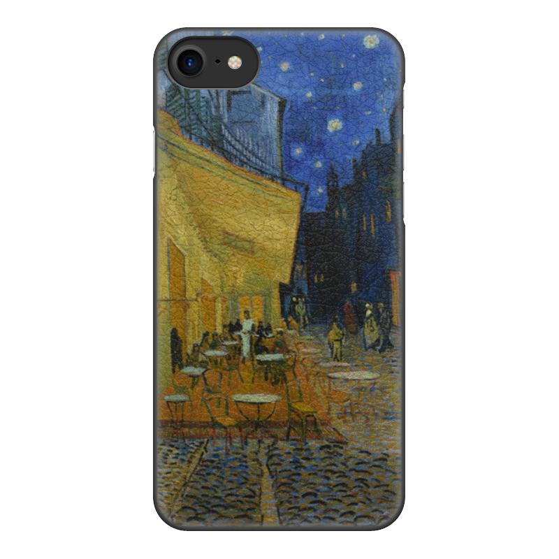 Чехол для iPhone 7, объёмная печать Printio Ночная терраса кафе (винсент ван гог) цена 2017