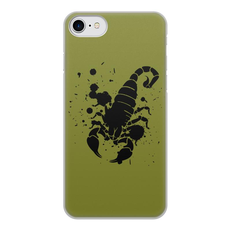 Чехол для iPhone 7, объёмная печать Printio Скорпион (24.10-21.11) чехол аккумулятор deppa nrg case 2600 mah для iphone 7 белый 33520