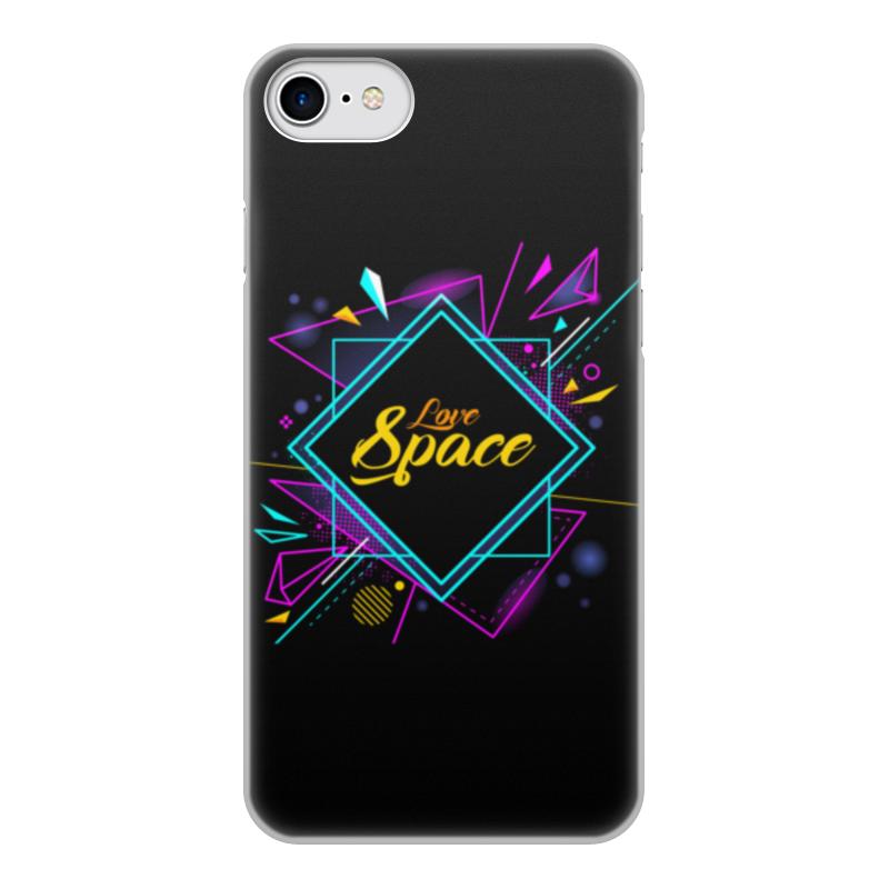 Чехол для iPhone 7, объёмная печать Printio Love space чехол аккумулятор deppa nrg case 2600 mah для iphone 7 белый 33520