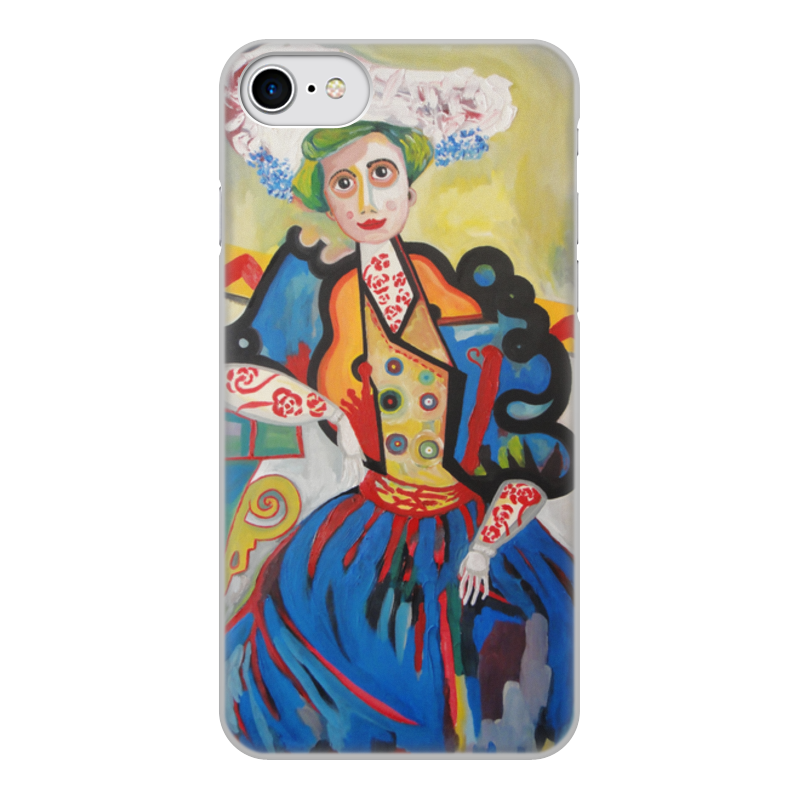 лучшая цена Чехол для iPhone 7, объёмная печать Printio Женщина (амадеу ди соза-кардозу)