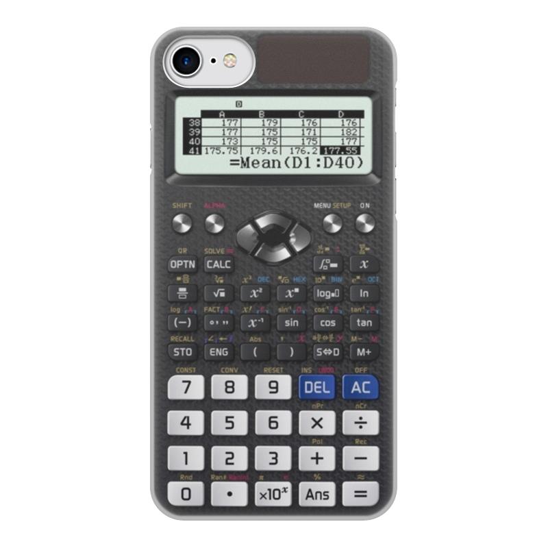 Чехол для iPhone 7, объёмная печать Printio Калькулятор инженерный