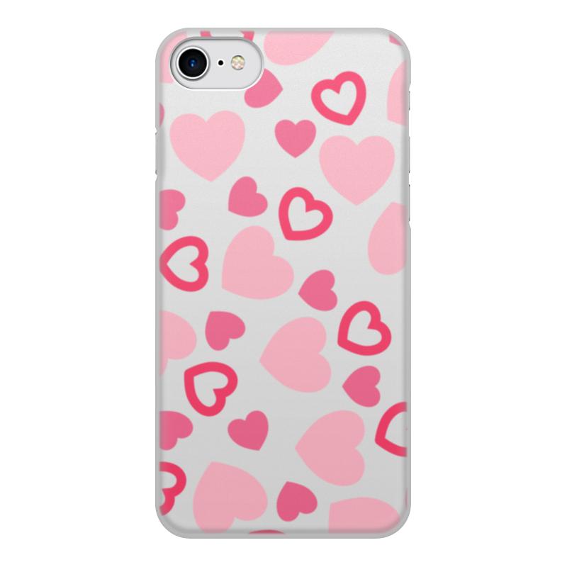 Чехол для iPhone 7, объёмная печать Printio Сердечный