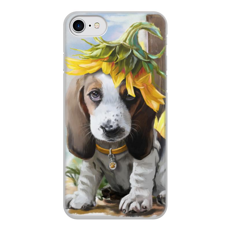 Чехол для iPhone 7, объёмная печать Printio Собака цена