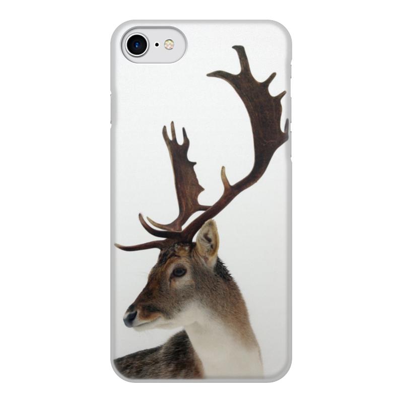 Чехол для iPhone 7, объёмная печать Printio Олень чехол для apple iphone 8 7 silicone case white