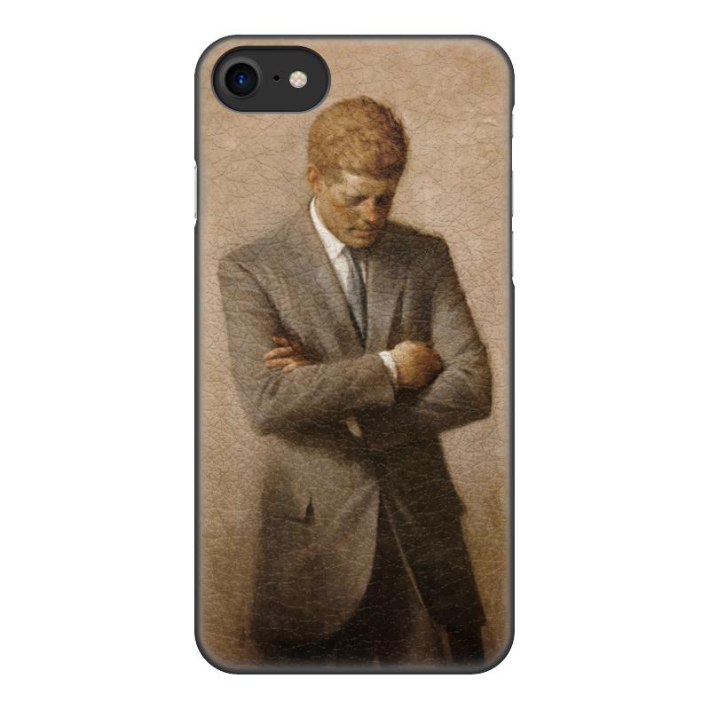 Чехол для iPhone 7, объёмная печать Printio Портрет президента джона ф. кеннеди.