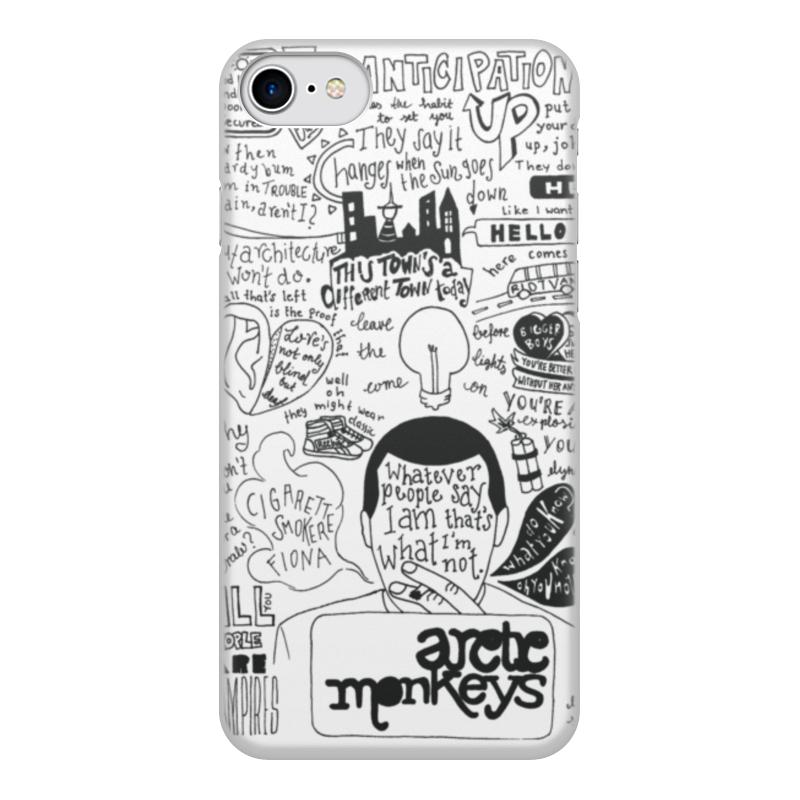 Чехол для iPhone 7, объёмная печать Printio Arctic monkeys цена