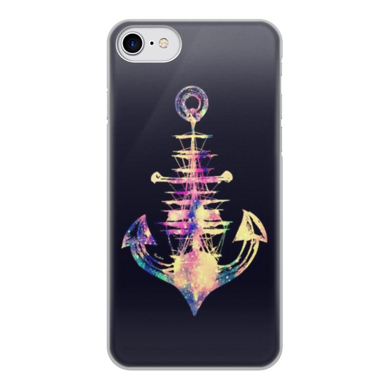 Чехол для iPhone 7, объёмная печать Printio Якорь