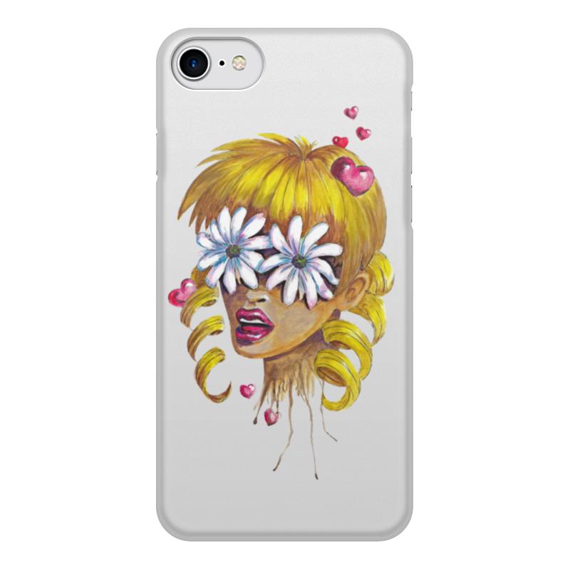 Чехол для iPhone 7, объёмная печать Printio Без ума от цветов чехол аккумулятор deppa nrg case 2600 mah для iphone 7 белый 33520