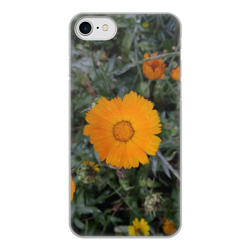 цена на Чехол для iPhone 7, объёмная печать Printio Летние цветы