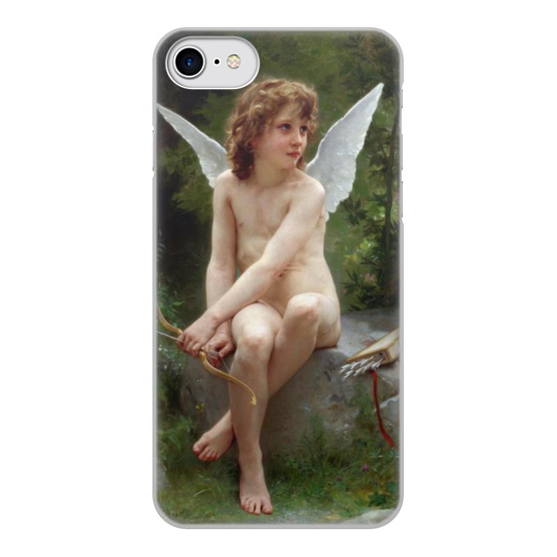 Чехол для iPhone 7, объёмная печать Printio Подстерегающая любовь (вильям бугро) чехол для iphone 6 глянцевый printio купальщица вильям бугро