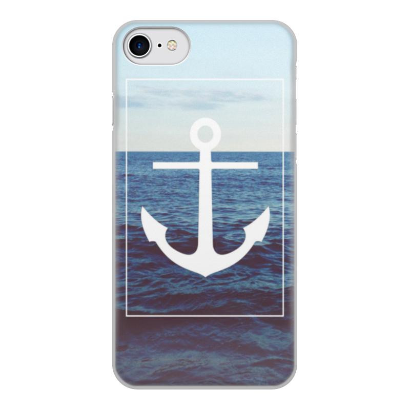 Фото - Чехол для iPhone 7, объёмная печать Printio Якорь чехол для iphone 5 глянцевый с полной запечаткой printio deadpool vs punisher