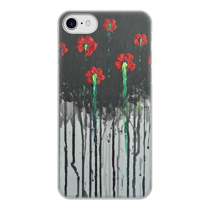 Чехол для iPhone 7, объёмная печать Printio Красные маки бомбер printio красные маки