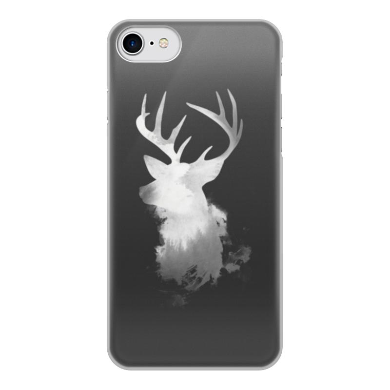 Фото - Чехол для iPhone 7, объёмная печать Printio Олень чехол для iphone 5 глянцевый с полной запечаткой printio deadpool vs punisher