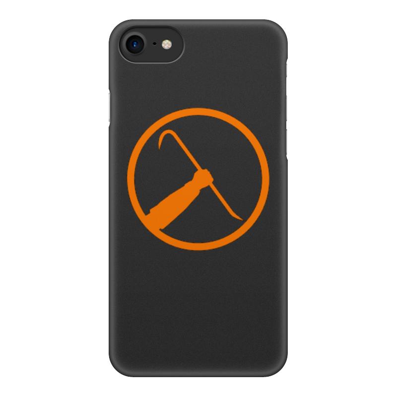 Чехол для iPhone 7, объёмная печать Printio Half-life 0 6mm ultra thin tpu shell for iphone 7 4 7 inch half moon flower
