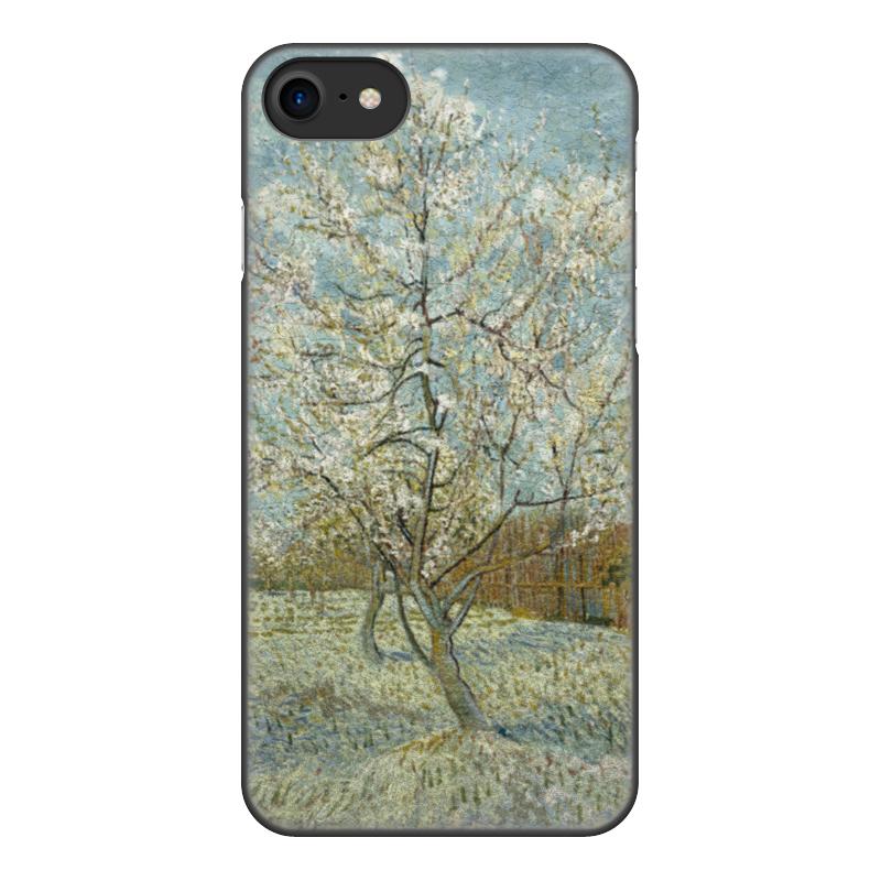 Чехол для iPhone 7, объёмная печать Printio Персиковое дерево в цвету (ван гог) чехол для iphone 5 5s объёмная печать printio персиковое дерево в цвету ван гог
