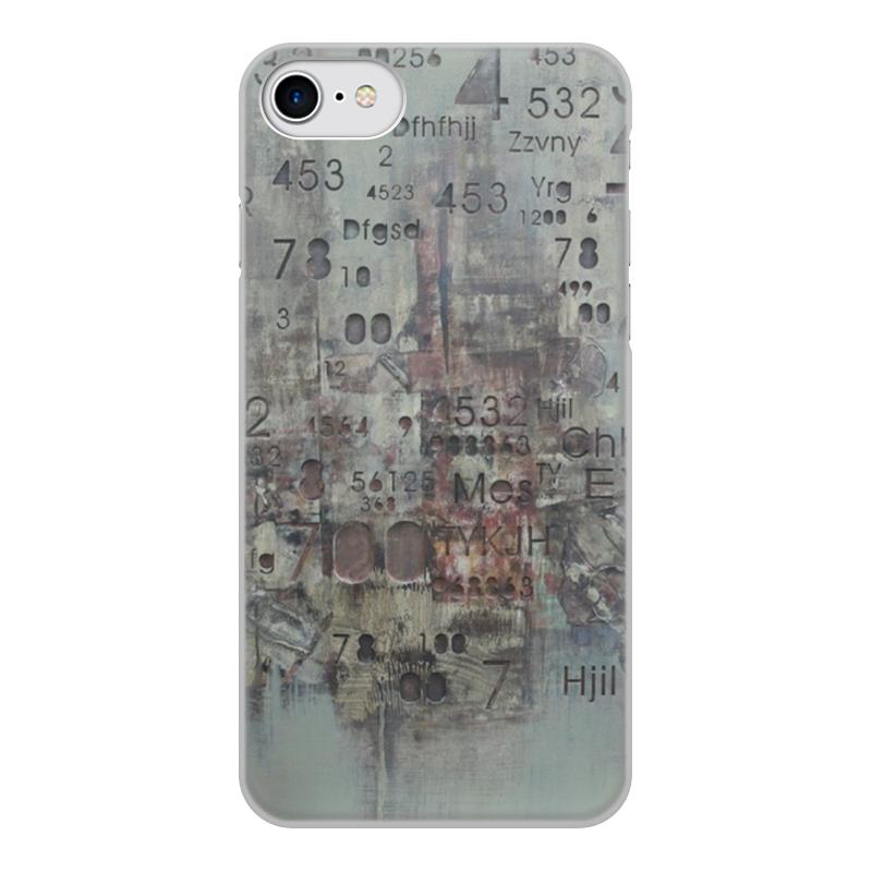 Чехол для iPhone 7, объёмная печать Printio Цифры чехол для apple iphone 8 7 silicone case white