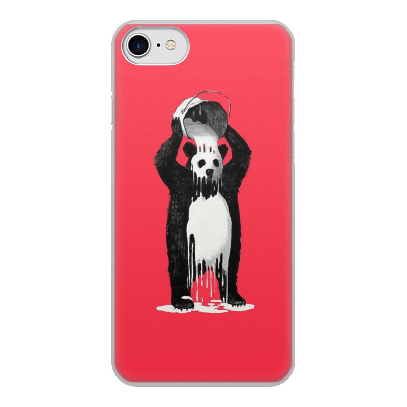 лучшая цена Чехол для iPhone 7, объёмная печать Printio Панда в краске