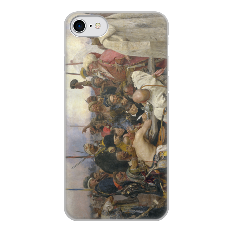 лучшая цена Чехол для iPhone 7, объёмная печать Printio Запорожцы (картина репина)