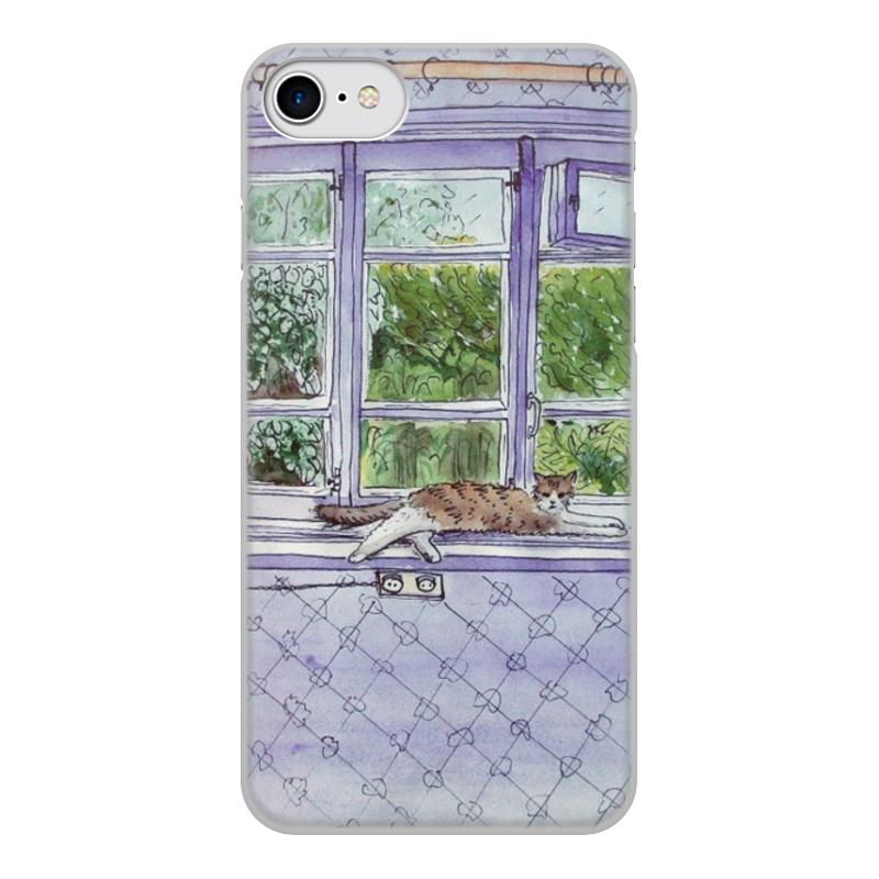 Чехол для iPhone 7, объёмная печать Printio Окно в сад чехол для iphone 7 объёмная печать printio джонни депп в образе грин де вальда