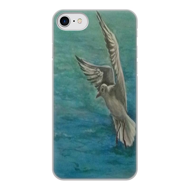 Чехол для iPhone 7, объёмная печать Printio Чайка чехол аккумулятор deppa nrg case 2600 mah для iphone 7 белый 33520