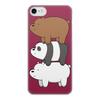 """Чехол для iPhone 7, объёмная печать """"Мы обычные медведи, we bare bears"""" - медведи, bears, мы обычные медведи, we bare bears"""