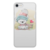 """Чехол для iPhone 7, объёмная печать """"Медвежонок"""" - юмор, зима, рисунок, мультяшка, медвежонок"""