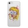 """Чехол для iPhone 7, объёмная печать """"Без ума от цветов"""" - любовь, девушка, цветы, сердца, блондинка"""