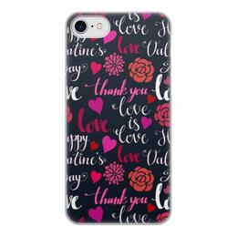 """Чехол для iPhone 7, объёмная печать """"День Св. Валентина"""" - любовь, сердца, валентинка, день св валентина"""