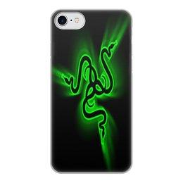 """Чехол для iPhone 7, объёмная печать """"Рейзер"""" - фирма, компьютеры, технологии, razer, рейзер"""