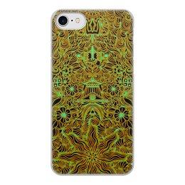 """Чехол для iPhone 7, объёмная печать """"Символы индуизма"""" - символ, индия, индуизм, шива, мехенди"""