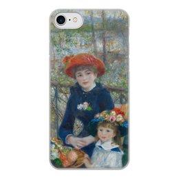 """Чехол для iPhone 7, объёмная печать """"Две сестры (На террасе) (Пьер Огюст Ренуар)"""" - картина, ренуар"""