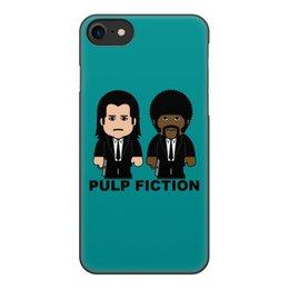 """Чехол для iPhone 7, объёмная печать """"Pulp Fiction"""" - тарантино, джон траволта, сэмюэл лерой джексон, pulp fiction, криминальное чтиво"""