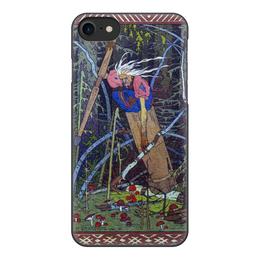 """Чехол для iPhone 7, объёмная печать """"Баба Яга (Иван Билибин)"""" - картина, сказка, живопись, богатыри, билибин"""