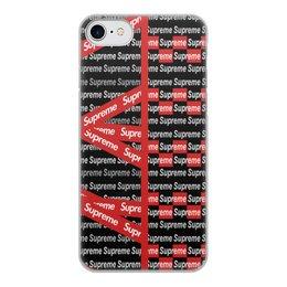 """Чехол для iPhone 7, объёмная печать """"Supreme"""" - надписи, бренд, brand, supreme, суприм"""