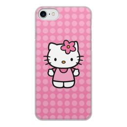 """Чехол для iPhone 7, объёмная печать """"Kitty в горошек"""" - мультик, hello kitty, мультфильм, для детей, привет китти"""