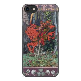 """Чехол для iPhone 7, объёмная печать """"Красный всадник (Иван Билибин)"""" - картина, сказка, живопись, билибин"""