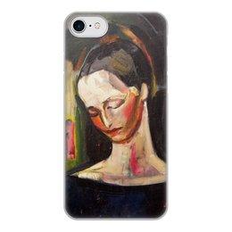 """Чехол для iPhone 7, объёмная печать """"Женский портрет (картина Ильи Машкова)"""" - картина, портрет, живопись, машков"""