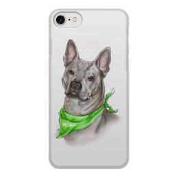 """Чехол для iPhone 7, объёмная печать """"РИДЖБЕК"""" - иллюстрация, собаки, риджбек"""