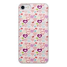 """Чехол для iPhone 7, объёмная печать """"Сердечки"""" - сердце, любовь, день святого валентина"""