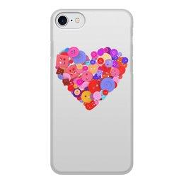 """Чехол для iPhone 7, объёмная печать """"День всех влюбленных"""" - любовь, день святого валентина, валентинка, i love you, день влюбленных"""